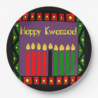 Candles Of Hope Kwanzaa Party Paper Plates 9 Inch Paper Plate