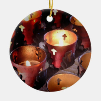 Candles of the Texas Missions Christmas Ornament