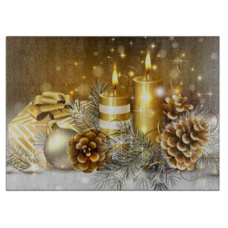 Candles, Pine cones, ornaments and gifts Cutting Board