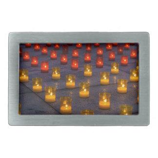 Candles Rectangular Belt Buckles