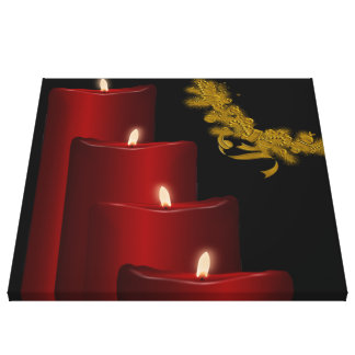 Candles,red Gallery Wrap Canvas