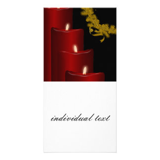 Candles,red Customized Photo Card