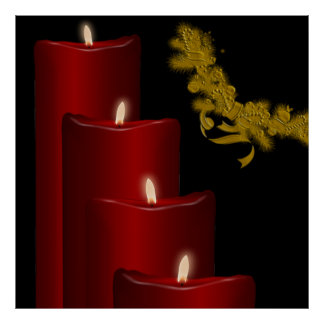 Candles,red Posters