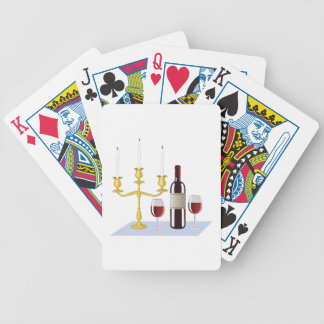 Candles & Wine Poker Deck