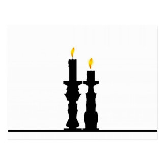 Candlestick illusion postcard