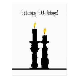 Candlestick illusion postcard