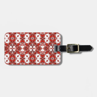 Candy and Currant Red Kaleidoscope Pattern #1 Luggage Tag