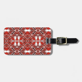 Candy and Currant Red Kaleidoscope Pattern #2 Luggage Tag