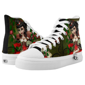 Candy Apple Doll Custom Art Zipz High Top Sneakers