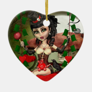 Candy Apple Love Gothic Lolita Heart Ornament