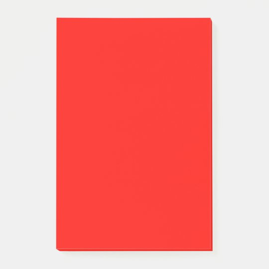 Candy Apple Red Bold Matching Colour Post-it® Notes