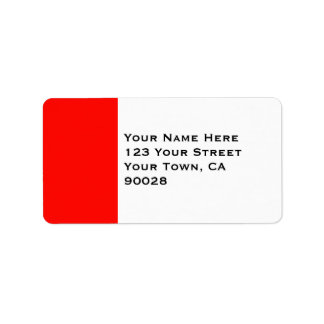 Candy Apple Red Border Address Label