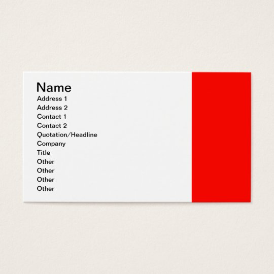 Candy Apple Red Border Business Card