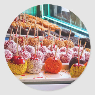 Candy Apples - Coney Island, NYC Round Sticker