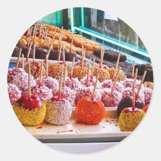 Candy Apples - Coney Island NYC Round Sticker