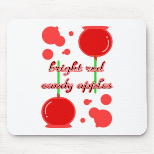 candy apples mouse pad