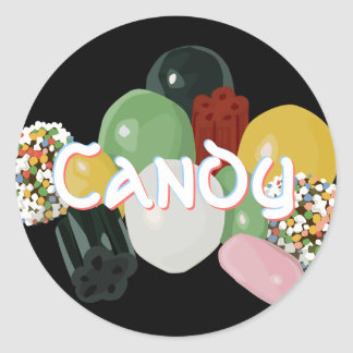 Candy Assortment Stickers