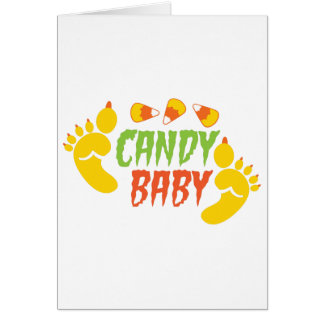 CANDY BABY with cute monster feet Greeting Card