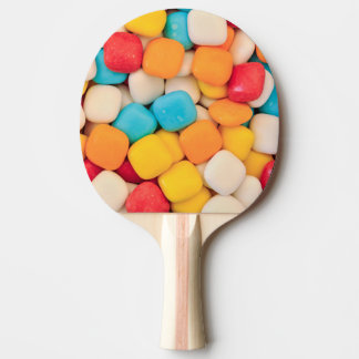 candy background ping pong paddle