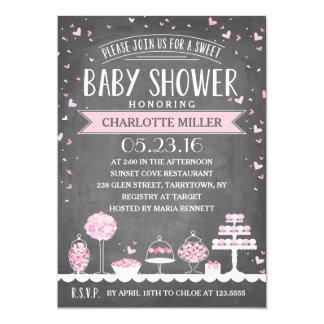 Candy Bar | Baby Shower 13 Cm X 18 Cm Invitation Card