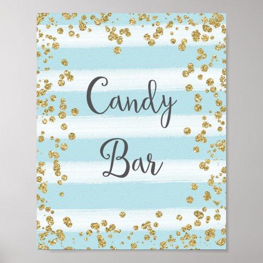 Candy Bar Wedding Poster Print