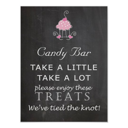 Candy Bar Wedding sign - chalkboard