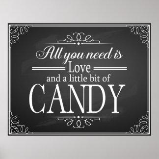 Candy Bar wedding sign chalkboard-blackboard print