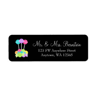 Candy Bat Mitzvah Return Address Label