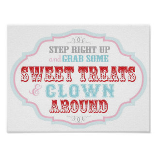 Candy Booth Sign for Carnival Circus Birthday
