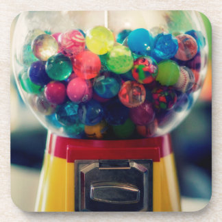 Candy bubblegum toy machine retro beverage coasters