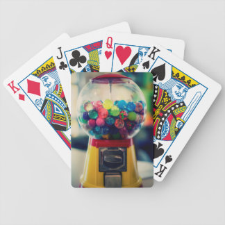 Candy bubblegum toy machine retro bicycle playing cards