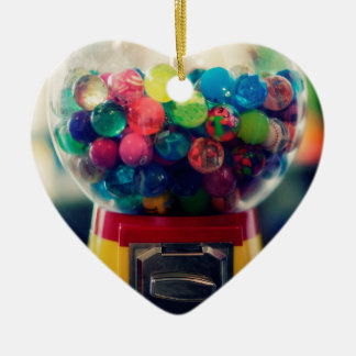 Candy bubblegum toy machine retro ceramic heart decoration