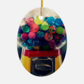 Candy bubblegum toy machine retro ceramic oval decoration