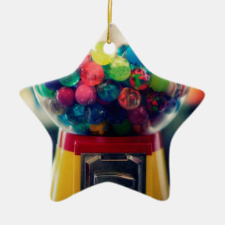 Candy bubblegum toy machine retro ceramic star decoration