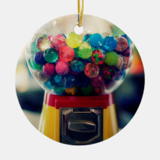 Candy bubblegum toy machine retro round ceramic decoration