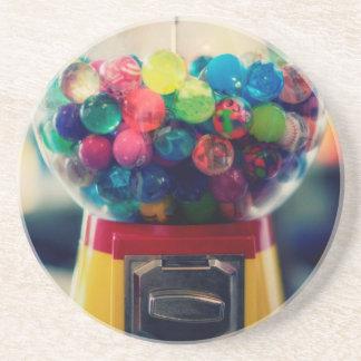 Candy bubblegum toy machine retro sandstone coaster