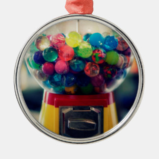 Candy bubblegum toy machine retro Silver-Colored round decoration