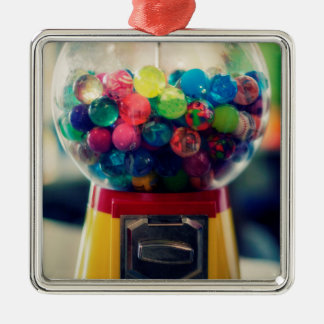 Candy bubblegum toy machine retro Silver-Colored square decoration