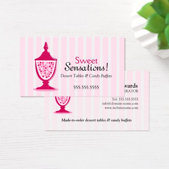 Candy Buffet and Dessert Tables Business Card