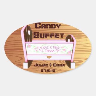 candy buffet baby shower sticker CUSTOMIZABLE