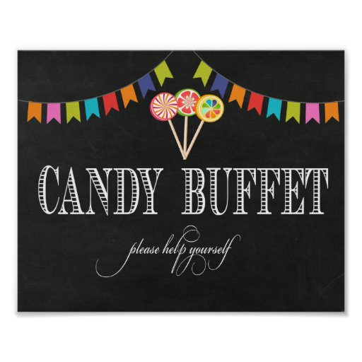 Candy Buffet Table Sign - 8x10- Candy Bar