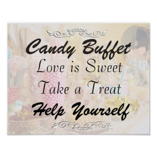 Candy Buffet Wedding or Baby Shower Sign Poster