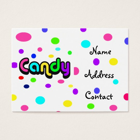 Candy-business card