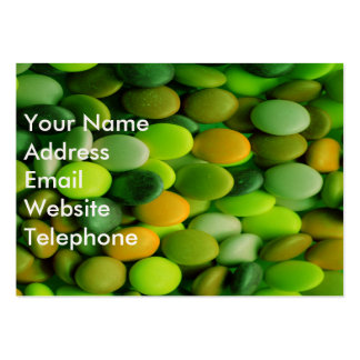 Candy Buttons green Pack Of Chubby Business Cards