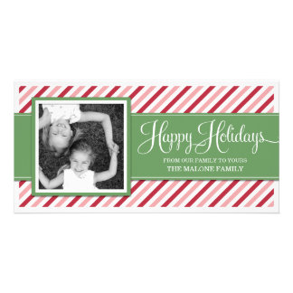CANDY CAN STRIPES    HOLIDAY PHOTO CARD