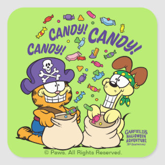 Candy! Candy! Candy! Square Sticker