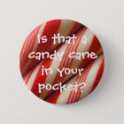 Candy Cane 6 Cm Round Badge