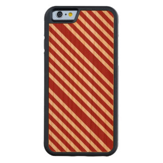CANDY CANE (a Christmas stripe design) ~ Carved® Cherry iPhone 6 Bumper