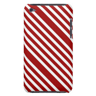 CANDY CANE a Christmas stripe design Barely There iPod Covers