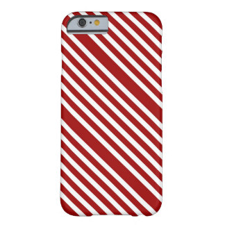 CANDY CANE (a Christmas stripe design) ~ Barely There iPhone 6 Case
